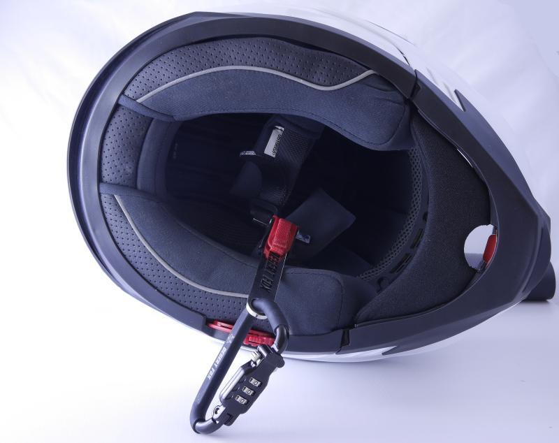 helmet lock for ratchet chin straps